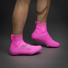 GripGrab RaceAero Hi-Vis Lightweight Lycra Shoe Covers pink hi-vis
